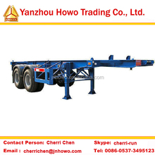 Most popular 40ft container semi-trailer chassis for sale/skeletal trailer with container locks