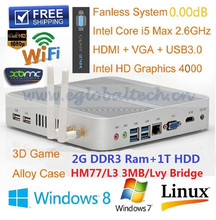 price desktop computer with Intel I5 Core 2GB RAM 1TB HDD Dual WIFI Antenna Home Theater Computer 3D Gaming Support USB3.0 Ports