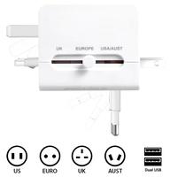 EU USA AUS UK multifunction travel adapter travel adapter set usb charger wall