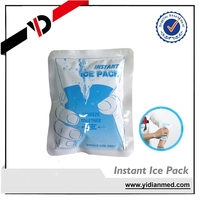 100g PE&Nylon disposible make instant snap cold pack with msds