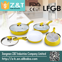 Forged aluminum white ceramic coating fry pan for induction cooker