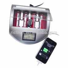 Bellezza argento caricabatterie rigenerare batterie alcaline usa e getta nonché ni-cd e batterie ni-mh