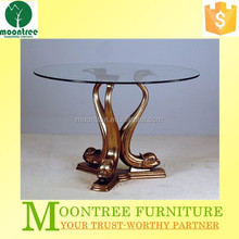 Moontree MDT-1129 Top Quality Modern Design Round Glass Dining Table