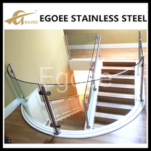 China Customize stainless steel stair railing guardrail glass connection pieces connector armrest bracket mount