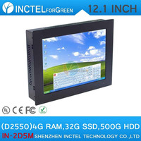 China All In One PC 12 inch Five wire Gtouch TouchScreen PC with 4G RAM 32G SSD 500G HDD