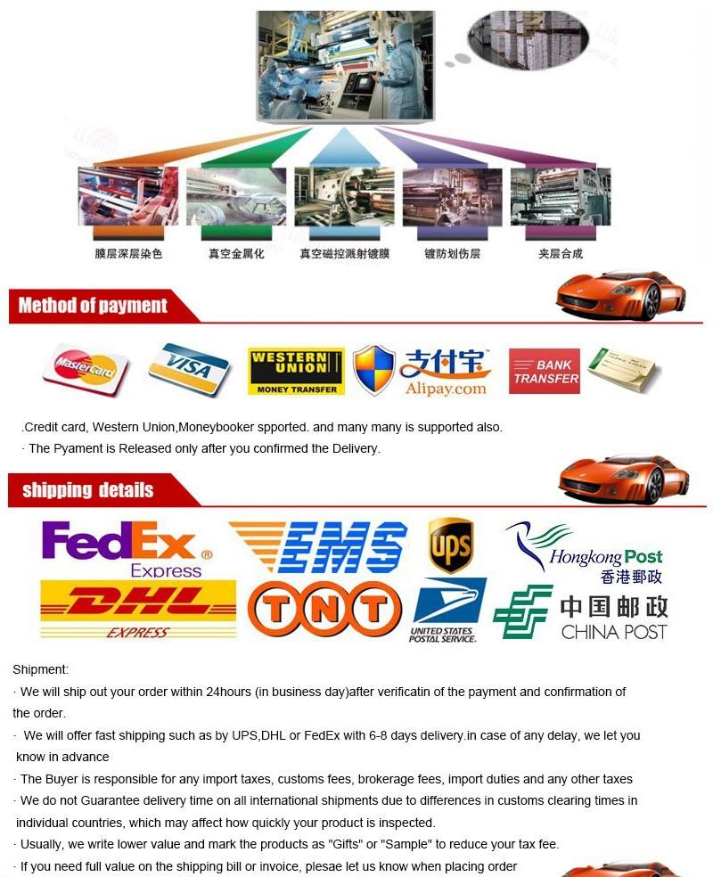 tsautop 30 * 1,5 м высокое качество магнетронного распыления прозрачное окно фильм окна автомобиля для защиты k2501