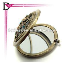 2012 the hottest antique bronze makeup mirror