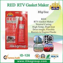 RED High temperature rtv sealant (SGS,REACH,certificate)