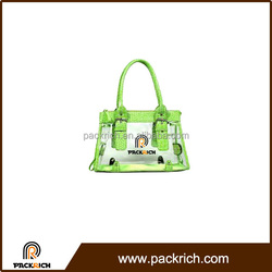 Clear PVC fresh design fashion cheap tote bag
