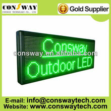 CE and RoHS approved outdoor led advertising screen with size 40*104cm and green color