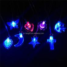Fluorspar glow necklace ~ 7 colour LED flashing necklaces