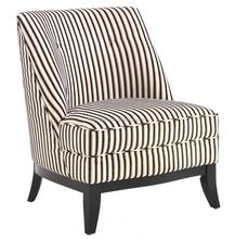 Jester Armless Tuxedo Fabric Club Chair