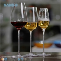 SANZO Rhombic Pattern Machine pressed wine goblet water drinking glass ware