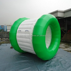 white/blue inflatable water roller /inflatable water wheel with factory price