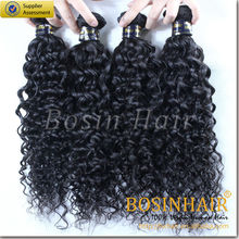 5a top quality 100% curly brazilian hair brazilian loose curl