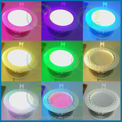 ,AC86-265v wireless remote control aluminum housing&heat sink, high quality heat sink color changing led lamp