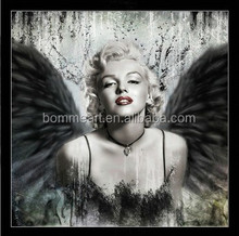 sexy marilyn monroe printed oil painting on canvas wall art black white prints picture for living room