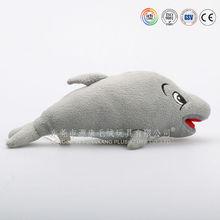 Custom plush animal shaped shark cushion for kids
