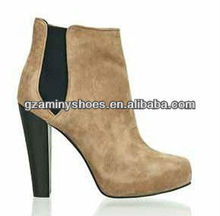 Classic genuine leather ankle suede boot