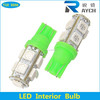 High quality t10 5050 9smd led auto lamp different colors for choice 12v auto led lamp Indicator car LED t10 car t10 5050 smd