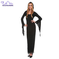 New Women Ghost Black Dress Carnival Sexy Halloween Witch Costume