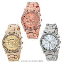 Lady vogue watch, watch geneva, quartz stainless steel watch water resistant