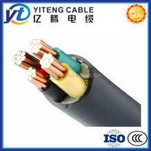 0.6/1kV PVC Insulation Material and Copper Conductor Material electric power cable 4mm 6mm 8mm