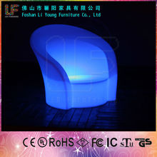 LED Illuminated Bar Furniture/Colorful and Waterproof LED Lighting Sofa/Plastic Party Chairs for Sale
