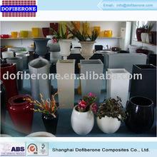 Fiberglass rectangular flowerpot planter