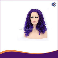 Hot selling korean heat resistant fiber big curl synthetic lace front wig cosplay wigs