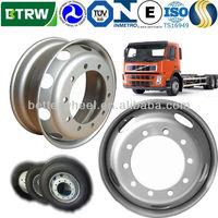 22.5x9 Volvo Isuzu truck Hino buses steel rims aluminum chrome wheels