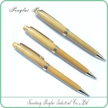novelty wooden pen Twist Metal Ballpoint Pen Wood Gold Pen