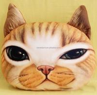 custom irregular shape stuffed animal Cute Cat Decorative Pillow for Home Car Travel BZ1176