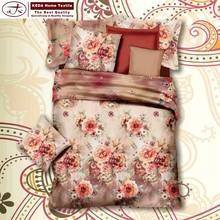 Novos produtos de design 2015 3d de cama de algodão saia folha atacado para cama folha plana lençol travesseiro cobre