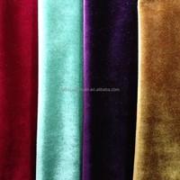 Wholesale Shiny Warp Knitting Italian Velvet Sofa Fabric For Home Textile Decoration