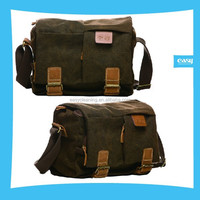 High quality Camera Canvas shoulder Bag with Mocha color with water resistant