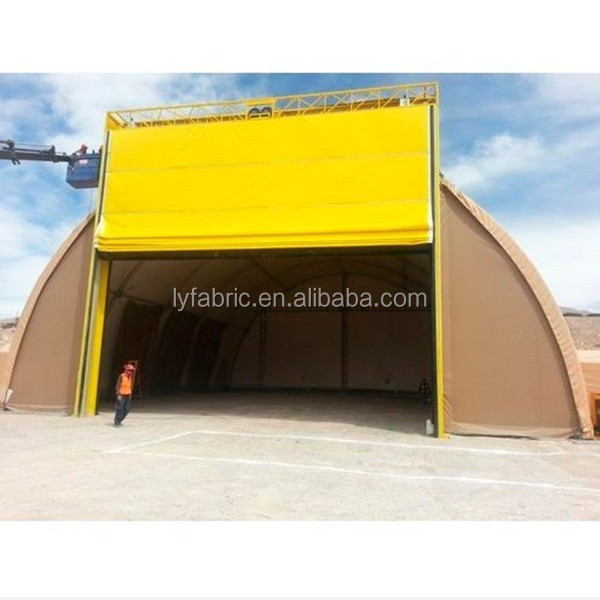 Fire Retardant pvc coated tarpaulin fabric used for roll up door