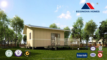 30 square meter Middle East standard prefabricated wooden house with light steel structure and solar system