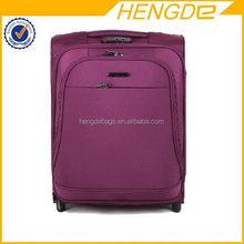 woman fancy purple royal polo luggage trolley case