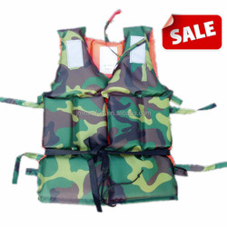 Green portable military work camouflage marine life jacket wholesale