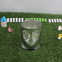 glass jar for candle and glass votive candle holder container