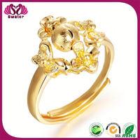 Fancy Gold Finger Ring Girls Gold Rings New Model 2013