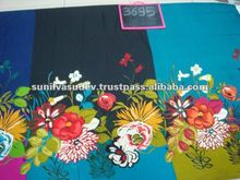 Polyester chiffon floral printed fabric