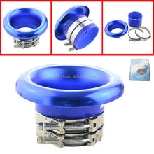 Aluminum 4 inch Loud Turbo Inlet Horn Kit/Trumpet for Increasing Racing Sound