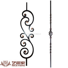 Indoor Decorative Wrought Iron hand-railing components/iron pickets /iron fence part