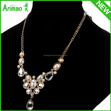 Pearl Jewelry Freshwater Pearl Necklace Gold Long Chain Pearl Necklace