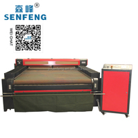 Printed Clothing Fabric Laser Cutting Machine Auto Feed CCD Camera Positioning