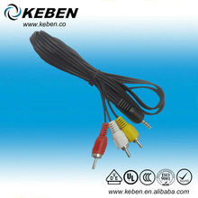 High quality 1 to 3 stereo plug 3.5mm audio plug RCA converter