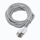 De dados USB 10Ft / 3 M tecido trançado cabo para iPhone 5 / iPhone 5S / iPhone 5c / iPhone 6 / iPhone 6 plus