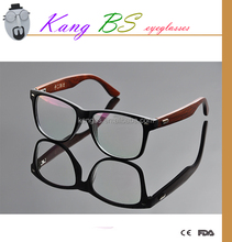 Eyewear 2015 fashion wooden optical frame models, high quality reading glasses in eyeglasses frames